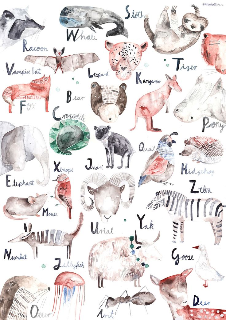 Chances are your kids already knows their alphabet by the time they start school, but this beautiful alphabet poster from Berlin based artist Greta's Schwester would still make a great first day of school gift!