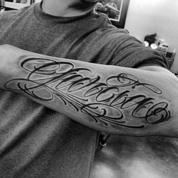50 Last Name Tattoos For Men - Honorable Ink Ideas  Name -3969