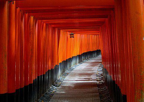 Kjóto, Japonsko, Brána Torii, Cesta