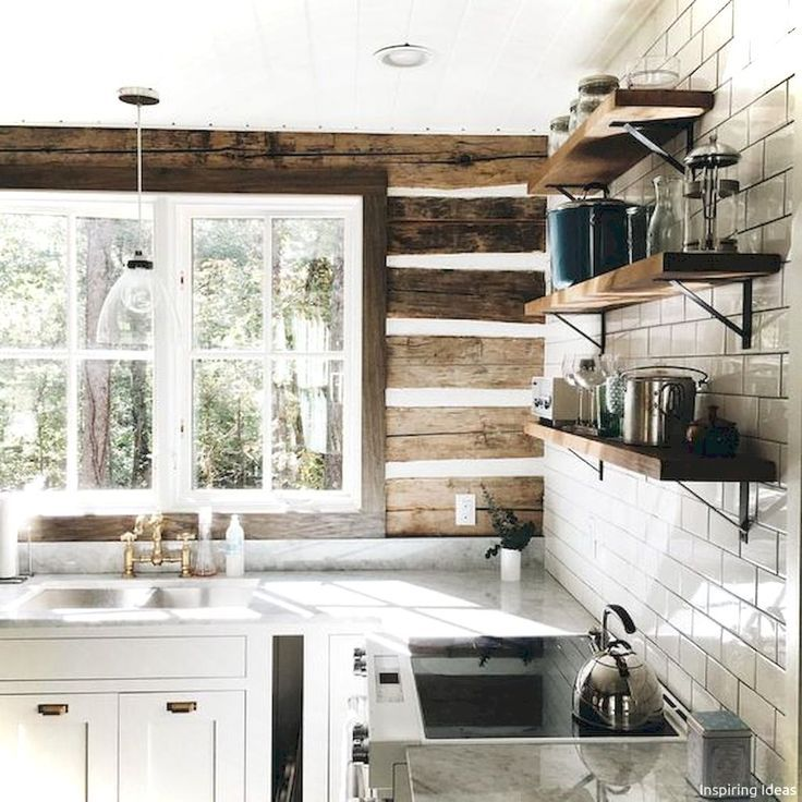 45 Gorgeous Cottage Kitchen Small Log Cabin Ideas Cabin