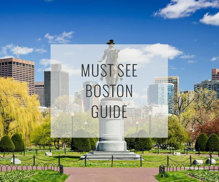 A customizable must-see guide to top attractions in Boston