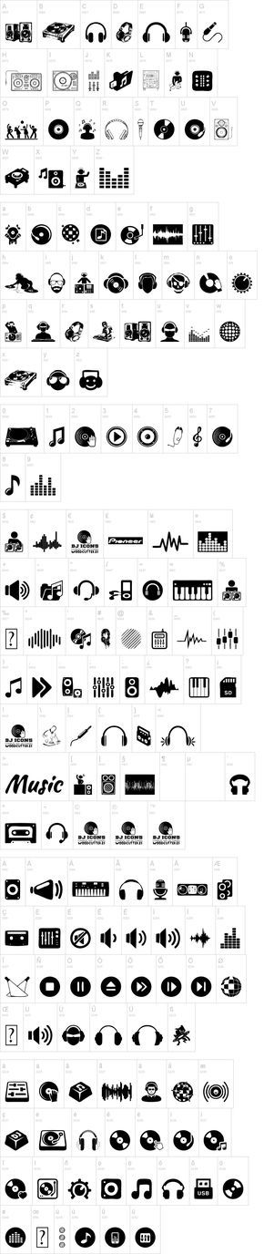 DJ Icons font --> JDuB, we will need this one day soon! :D                                                                                                                                                      More