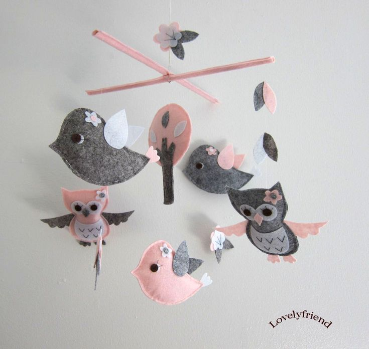 47 best babyroom girl pink birds images on pinterest for Bird mobiles for nursery