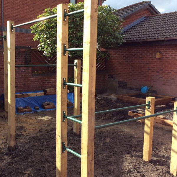 Could you put dip bars under the monkey bars structure maybe?! Save space
