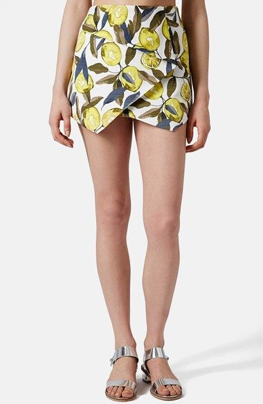 Topshop Lemon Print Pointed Hem Skort | Pretty Little Liars