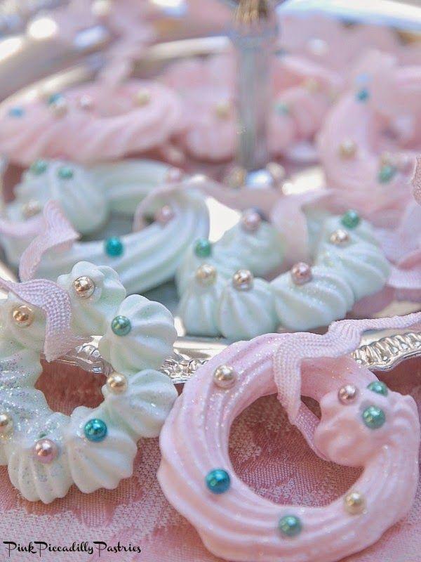 Sparkly Pastel Meringue Wreath Ornaments