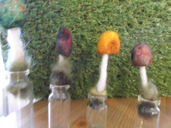 MushroomInABottle by LoveandSqualorCrafts on Etsy, $9.00