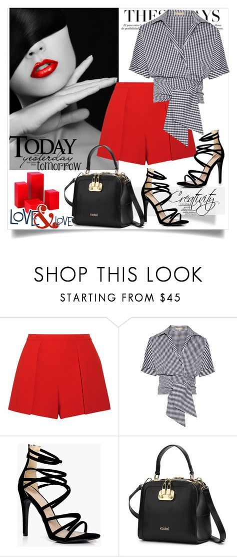 """Today Yesterday Tomorow"" by creativity30 ❤ liked on Polyvore featuring Alice + Olivia, Michael Kors and Boohoo"