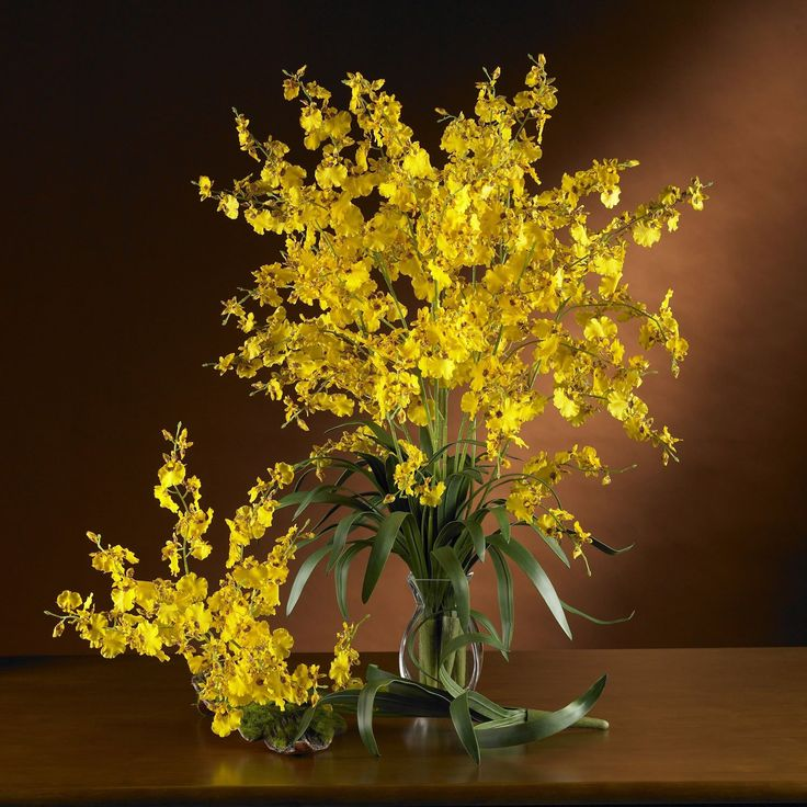Dancing Lady Silk Orchid Flower (6 Stems)
