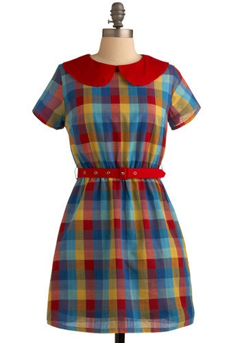 plaid dress from mod cloth with a super sweet collar