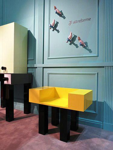#francis seat, #design by Elena Cutolo for #altreforme A Moveable Feast #stand @iSaloni 2014 #paris #anni20 #roaringtwenties #designweek #interior #home #decor #homedecor #furniture with #woweffect #aluminium
