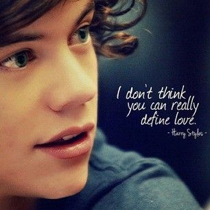 I can. It's what I feel for Harry Styles, Liam Payne, Niall Horan, Louis Tomlinson, and Zayn Malik. Plain & Simple