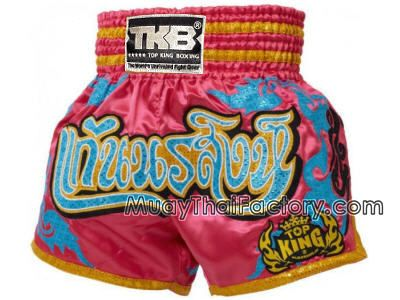 Top King TOP KING Muay Thai shorts - KaenNoRaSing - Pink for sale.  [TKTBS-071]