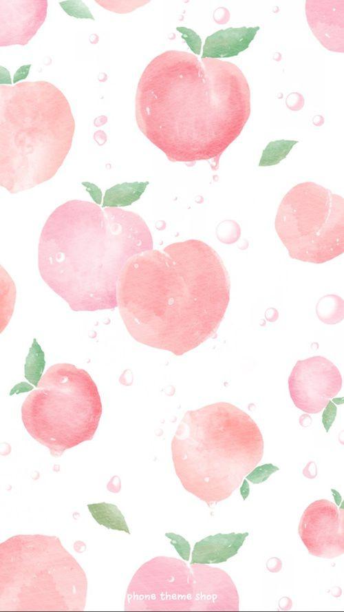 We Heart It Peach Wallpaper Fruit Wallpaper Wallpaper Iphone Summer