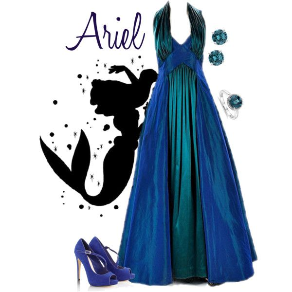 The Little Mermaid - Ariel formal gown by alyssa-eatinger on Polyvore