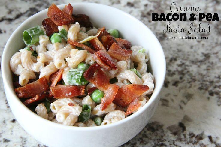Lunch: Creamy Bacon & Pea Pasta Salad