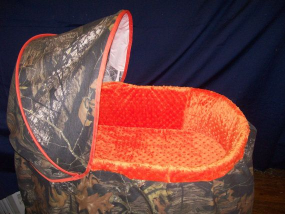 Custom Realtree Camo and Minky Bassinet Covers on Etsy, $135.00