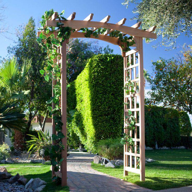 Cedar Pergola Arbor | From Hayneedle.com