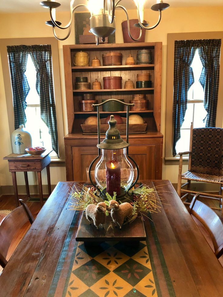 Déco Table Primitive Dining Rooms Primitive Decorating Country Primitive Homes