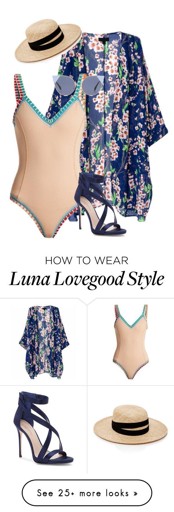 """Luna Lovegood inspired"" by samtiritilli on Polyvore featuring kiini, Imagine by Vince Camuto, Fendi and Janessa Leone"