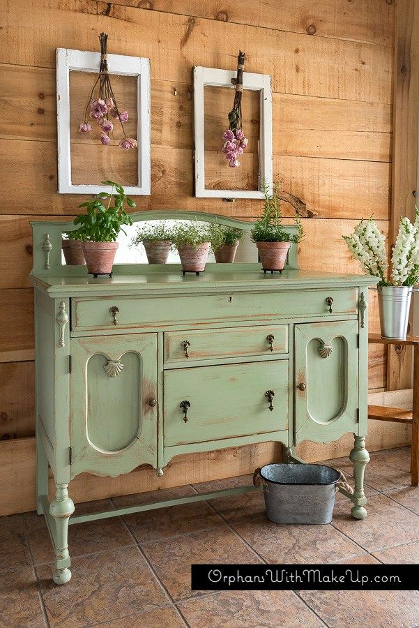 Antique Sideboard Makeover - by Orphans with Makeup