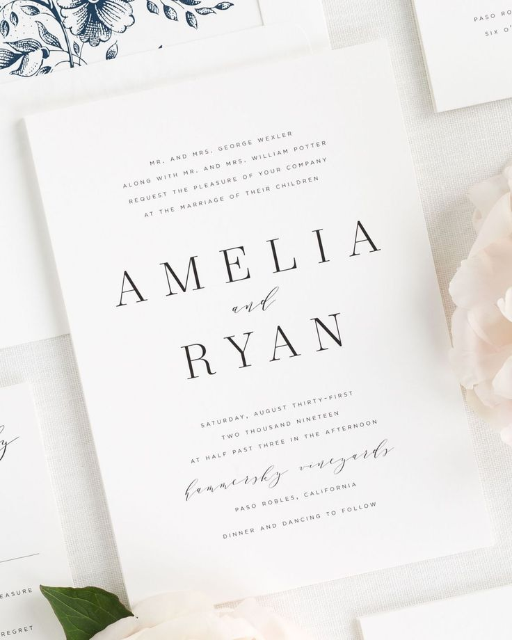 16 best WEDDING INVITATIONS images on Pinterest Ribbon wedding - best of invitation letter to a wedding sample