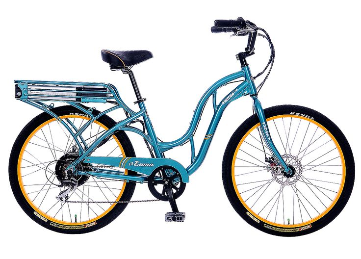 Ride efficiently and stylishly with Izip's Electric bikes. The E3 Zuma with a step-through frame is one of our favorites!
