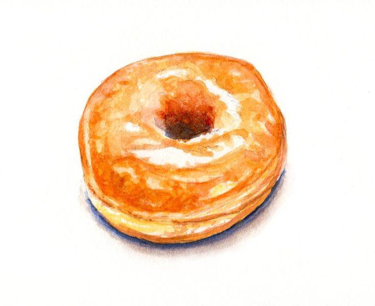 Image result for illustrated glazed donut