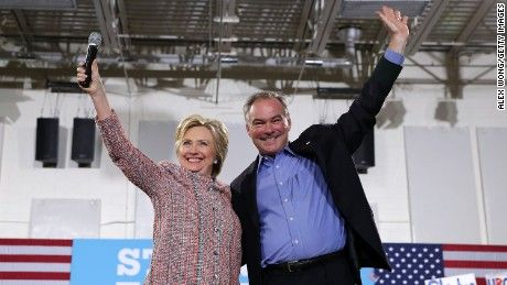 Hillary Clinton is hoping her decision to tap Virginia Sen. Tim Kaine as her running mate will go down in history as a move that helped her capture…