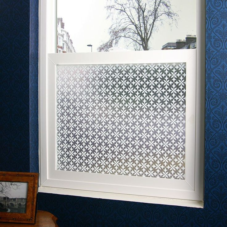 Fleur Privacy Window Film - for the entry  doorway.  I love the classic pattern.  This is simply peel and stick film.