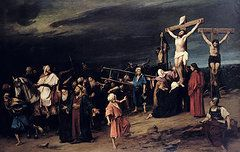 Biblical Paintings - Christ on the Cross by Mihaly Munkacsy