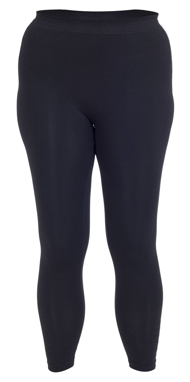 Mega cool Sorte leggings i store størrelser med flot vævet mønster Gozzip Modetøj til Damer i lækker kvalitet
