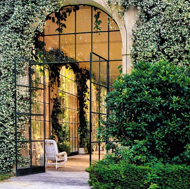 Doors + Jasmine (orangerie): Interior, Glass Doors, Window, Exterior, French Doors, Dream House, Outdoor, Architecture, Garden