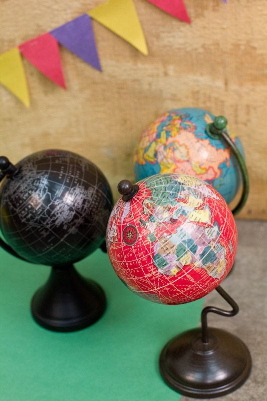Miniature Globes on Stands