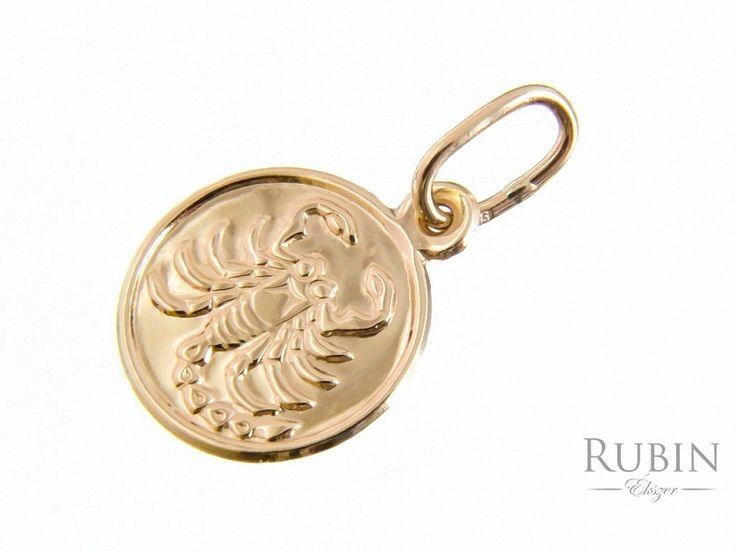 Skorpió horoszkóp arany medál