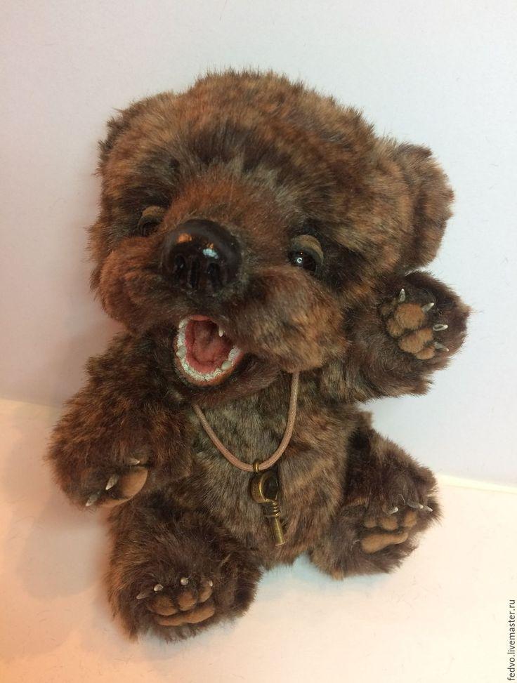 Купить Медведь тедди Сплюшка-Малыш(15 см) - коричневый, мишка тедди, сплюшка, мишка