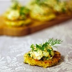 Prawn, Dill & Rice Cake Canapes are the perfect cold starter to any dinner party.