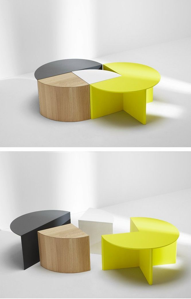 Modular Furniture That Can Handle Multiple Functions With Clean Lines,  Bright Colors And Good Design. Modular Coffee PIE CHART SYSTEM By H  Furniture ...
