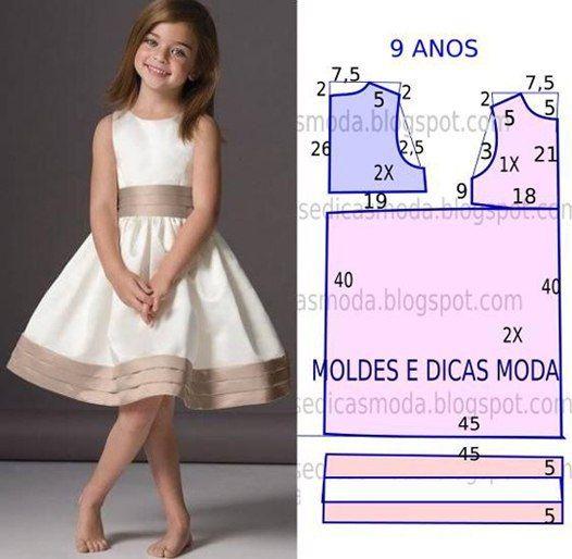 Платья для девочки выкройки на 8-9 лет фото #1