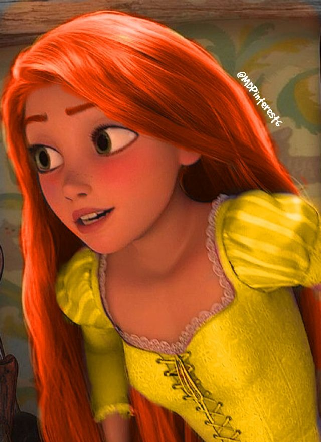 rapunzel with red hair