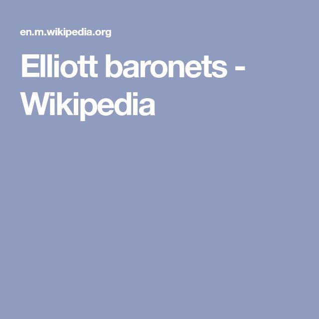 Elliott baronets - Wikipedia
