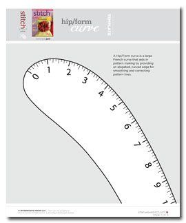 Printable free French hip curve
