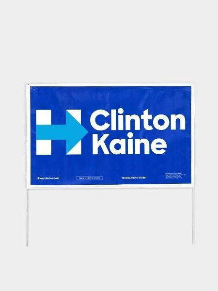 (5-Pack) Political Campaign Yard Signs w/Stakes - Hilary Clinton Tim Kaine 2016