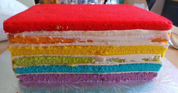 Vanilla rainbow cake.
