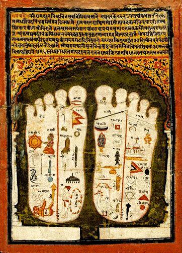 Lord Vishnu's Lotus Feet, indian minature