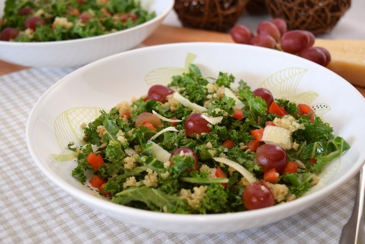 Kale, Grape and Quinoa Salad (Inspired by the Cheesecake Factory ...