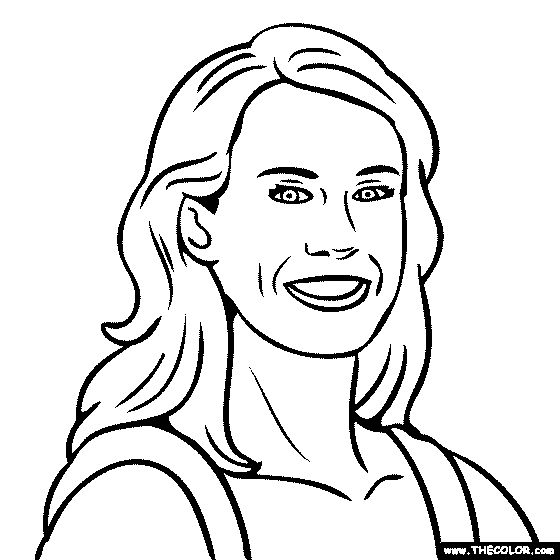 Holly Mcpeak Coloring Page | Art: Faces | Pinterest | Famous ...