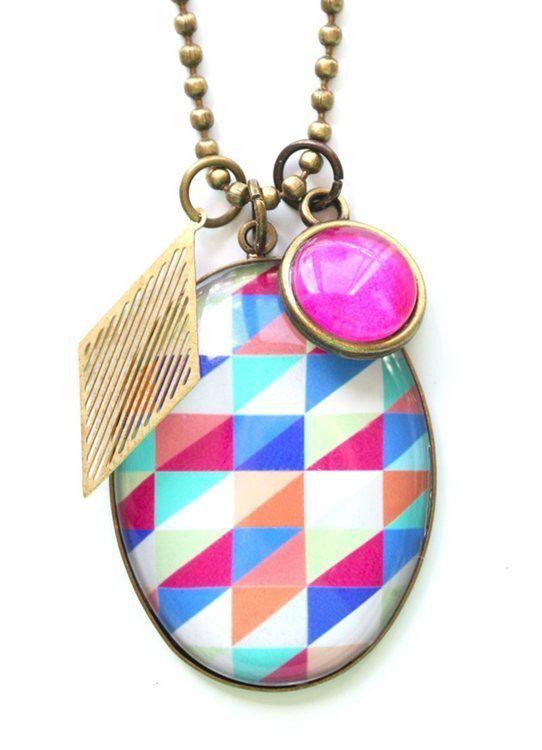 Pink Diamond Pendant www.cloudninecreative.co.nz