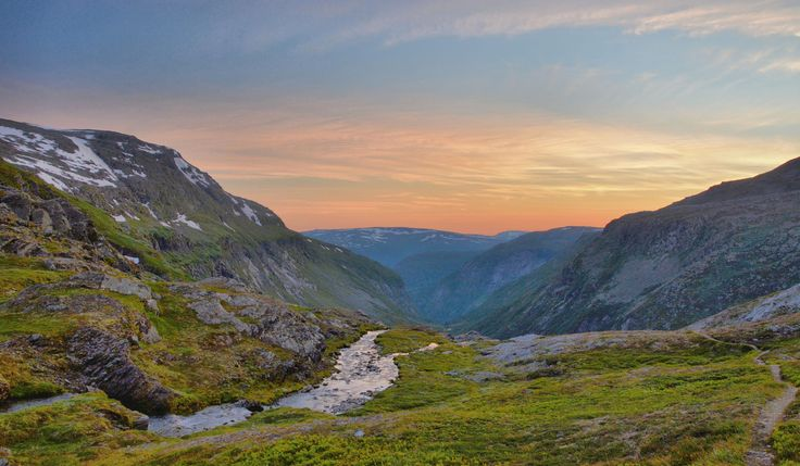 Sunset from the top of Kleådalen