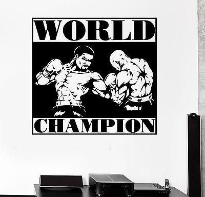 Wall Sticker Sport Boxing Worls Champion Fighting Vinyl Decal Unique Gift (z2977)
